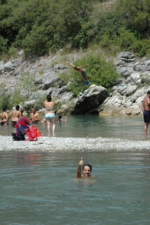 Bagno nel fiume Calore a Controne e Kiena a Campagna (SA)