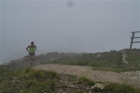 TRAIL di PIZZO San Michele N°3157 FOTO scattate a raffica in VETTA da Peppe Dalessio con nebbia e gran freddo - foto 1