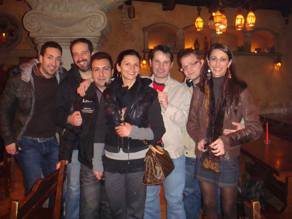 Cena al Bodeguero con Luisa-Pina-Domenico-Davide-Andrea-Marco